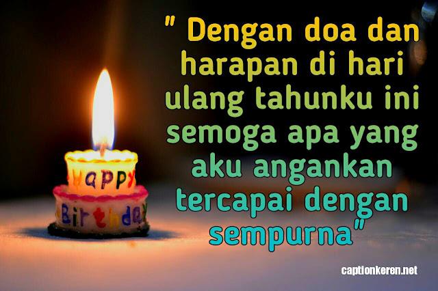 doa dan harapan di hari ulang tahun untuk diri sendiri