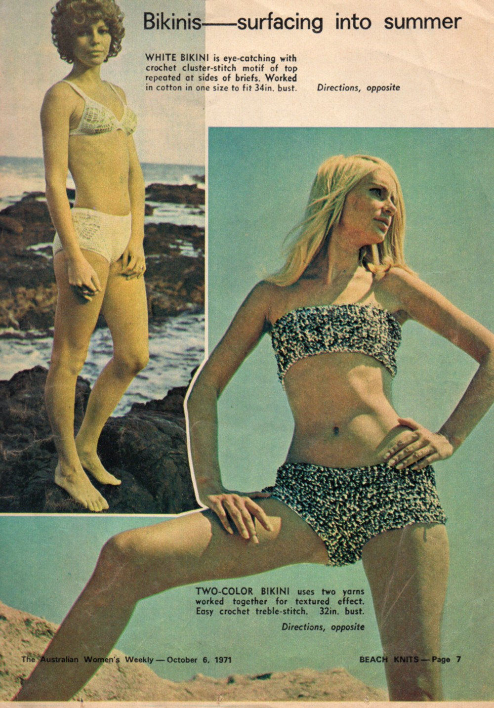 katiecrackernuts.blogspot.com.au || 1970s knit and crochet swimwear