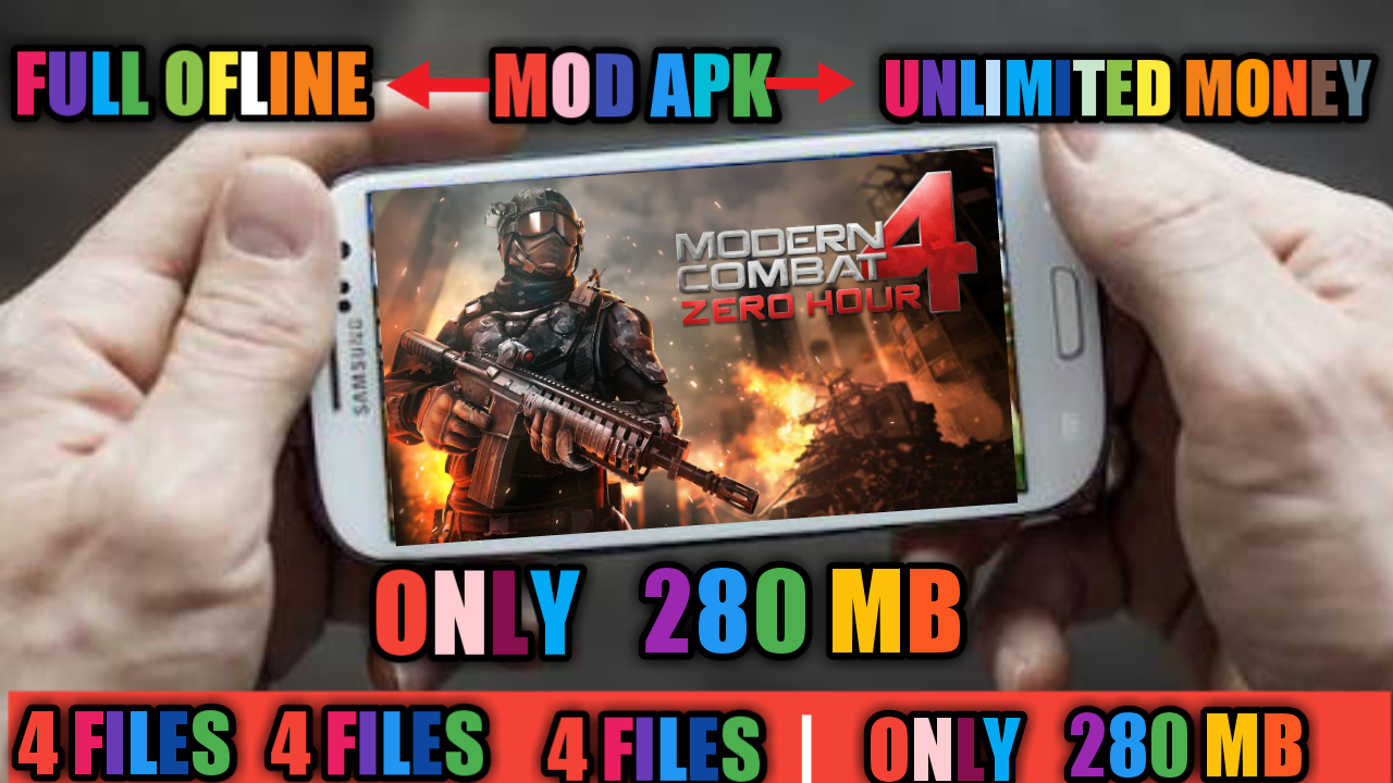 280mb How To Download Modern Combat 4 Zero Hour Mod Apk For Android