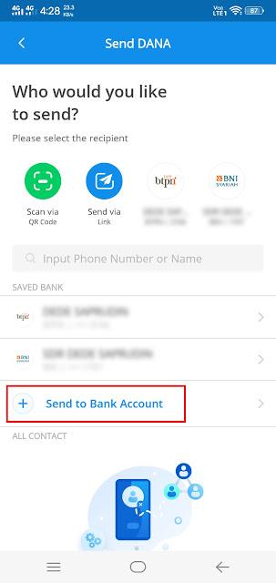 cara transfer saldo dana ke rekening bank