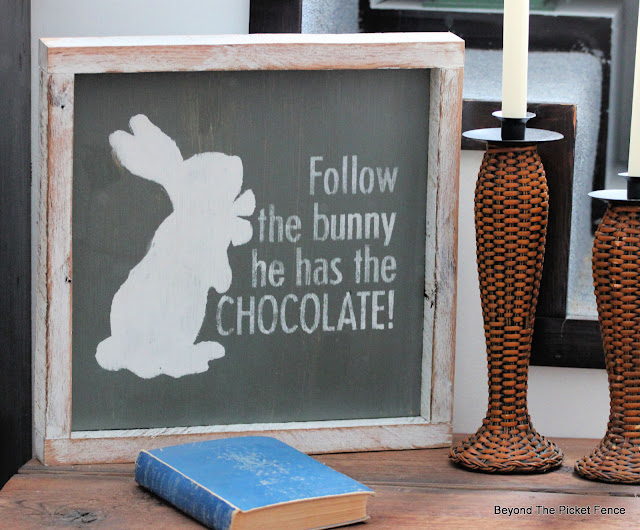 Stenciled Signs for Spring