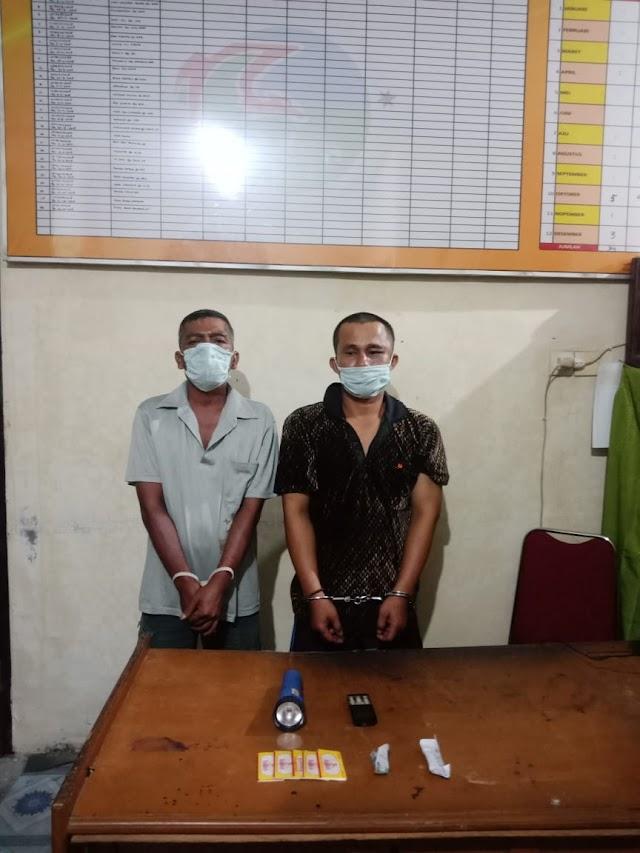 Tim Galang Besi Satresnarkoba Polres Padang Pariaman Bekuk Dua Orang Penyalahguna Narkoba