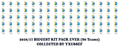 [PES 2016] 2016/17 Biggest Kit Pack Ever (80 Teams) by yxussef