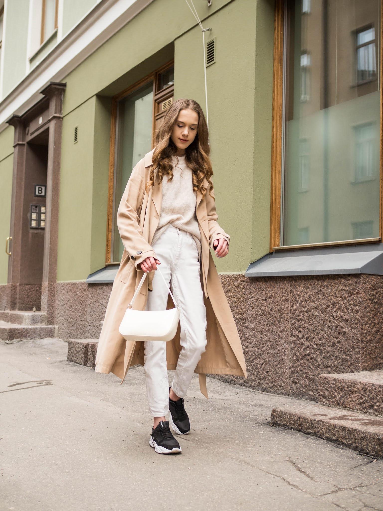 Kevätasu trenssitakin kanssa // Spring outfit with trench coat