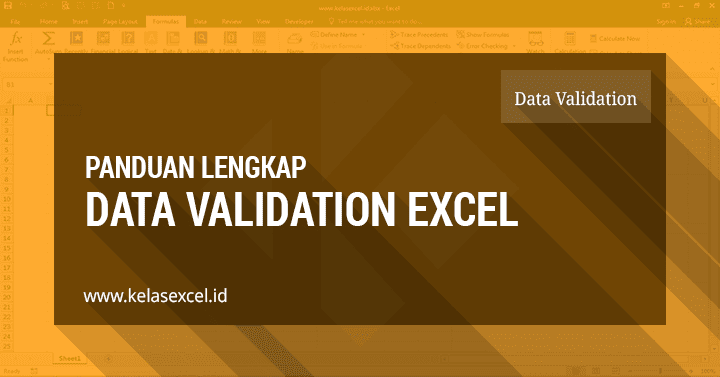 Data Validation Excel - Cara Membatasi Nilai Pada Excel