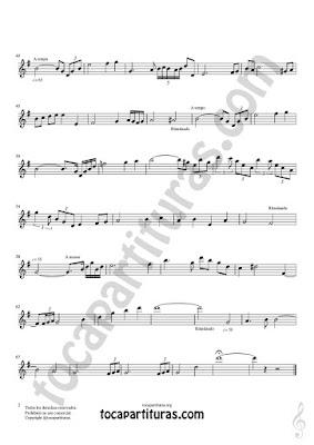 Hoja 2  Soprano Sax y Saxo Tenor Partitura de Meditación Tonalidad Fácil Sheet Music for Soprano Sax and Tenor Saxophone Music Scores PDF/MIDI de Saxofón Sib