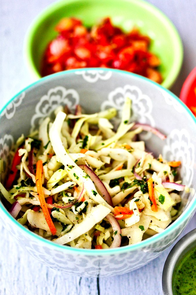 Wahoo's citrus slaw in a bowl