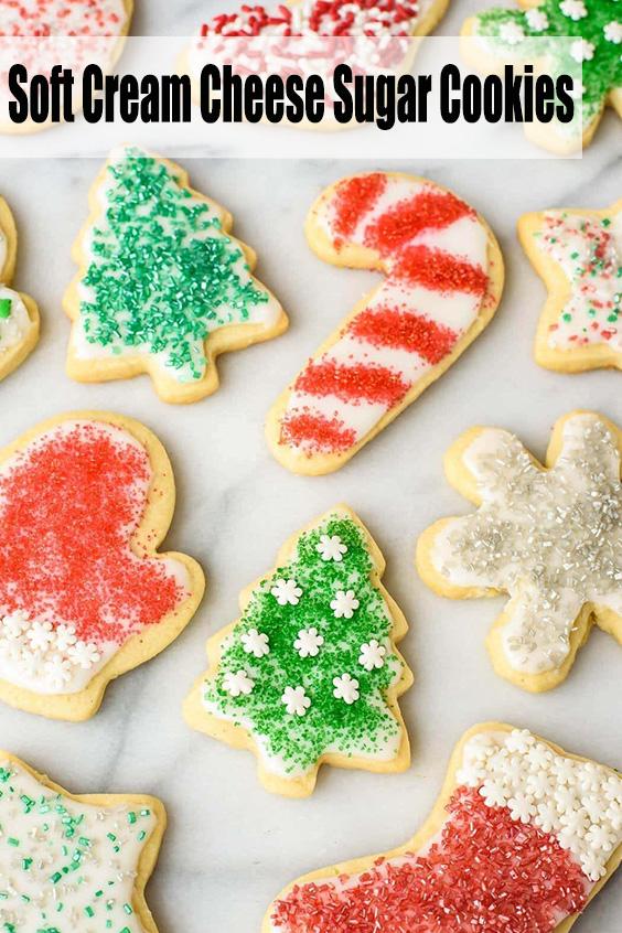 Soft Cream Cheese Sugar Cookies