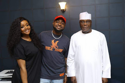 Davido and his boo Chioma pay Courtesy visit to PDP presidential aspirant Atiku Abubakar