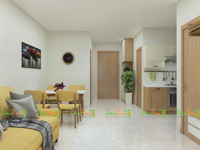Thiết kế và thi công hoàn thiện nội thất căn hộ chung cư Moonlight Boulevard - Khu bếp, bàn ăn
