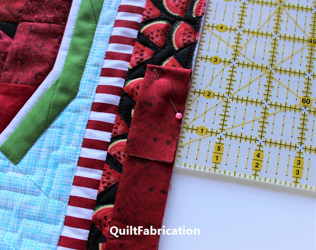 joining quilt binding-start with a fold