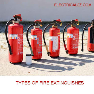 types of fire extinguishers and their uses, fire extinguisher use, foam fire extinguisher@electrical2z