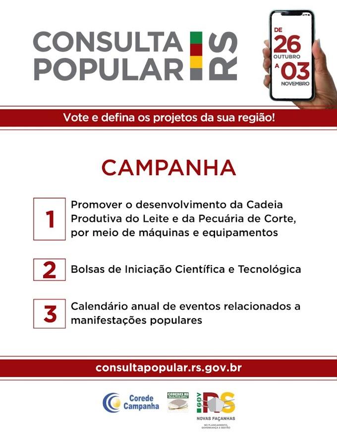 Pedritenses já podem votar na Consulta Popular 2020