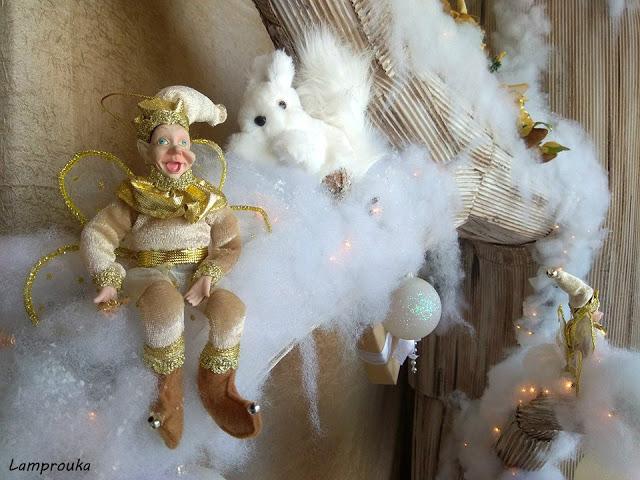 Χριστουγεννιάτικη διακόσμηση καταστήματος.