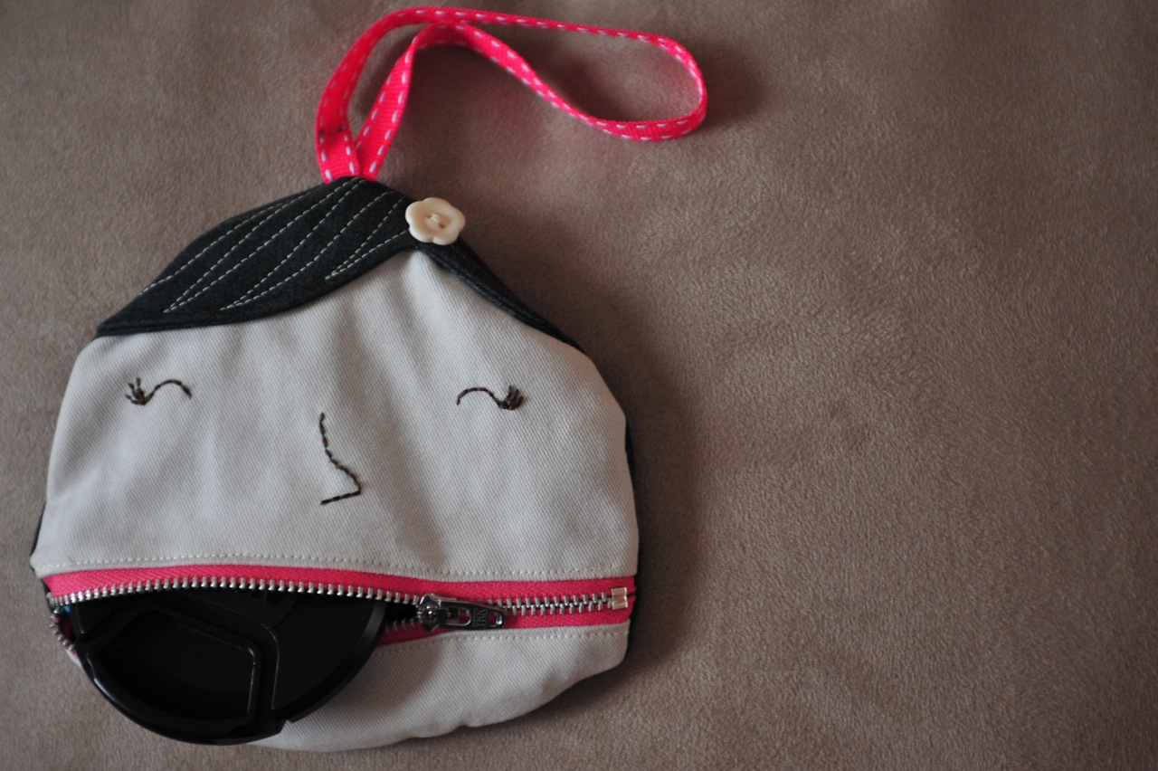 Free pattern & TUTORIAL: Ms. Lipsie pouch bag