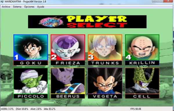 Dragon Ball Kart 64 Beta (USA) en INGLES descarga directa