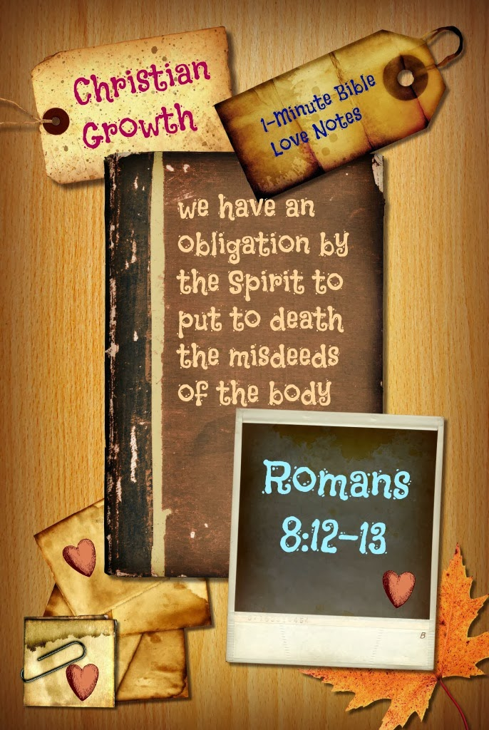 Romans 8:12-13, Our obligation as Christians, live according to the Spirit