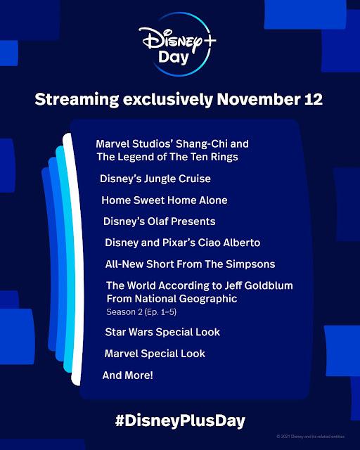 Disney+ Day Content November 12, 2021