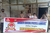 Jelang Hari Bhayangkara Ke- 75, Polsek Kuala Behe Laksanakan Bhakti Sosial