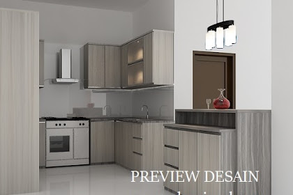 Design View 3D Kitchen Set Unik dan Modis