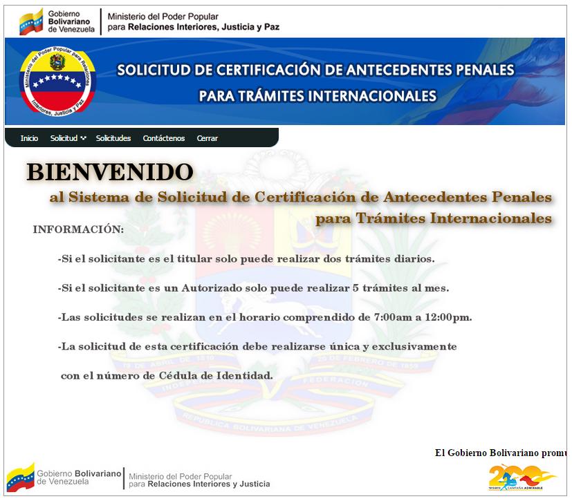 éxodo Venezolano Certificación De Antecedentes Penales