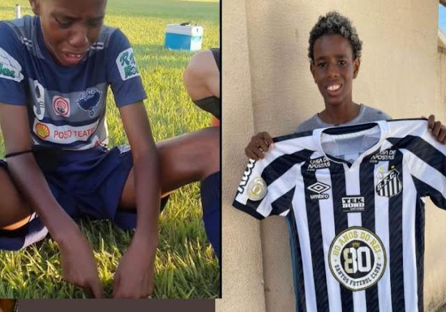 Jogador vítima de racismo recebe convite do Santos e vídeo de Neymar