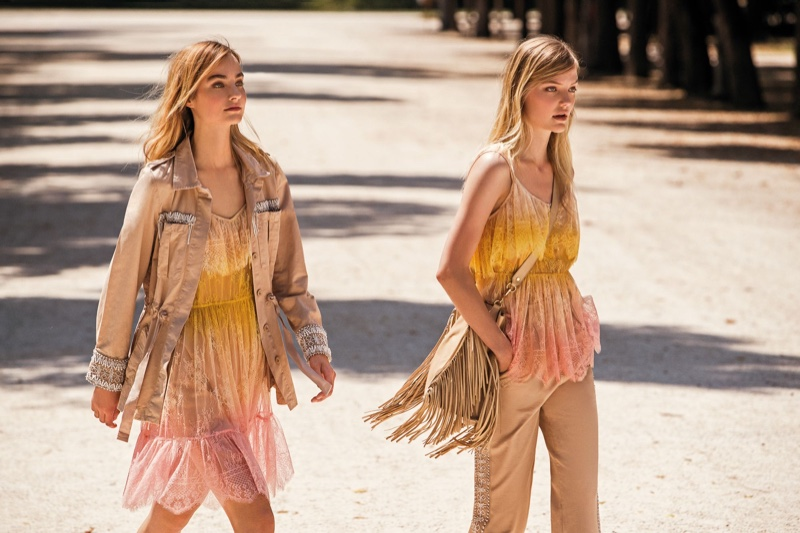 Fringe accents stand out in Twinset spring-summer 2020 campaign.