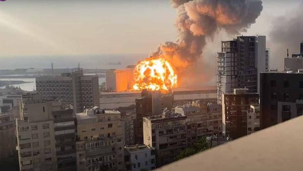 Νέο βίντεο σε slow motion με το ωστικό κύμα να ισοπεδώνει το λιμάνι της Βηρυτού
