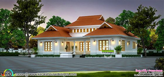 1250 sq-ft outstanding Traditional Kerala home