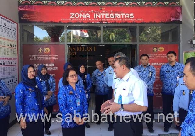 Kunjungi Bapas Makassar, ini Pesan Kadivpas SulSel