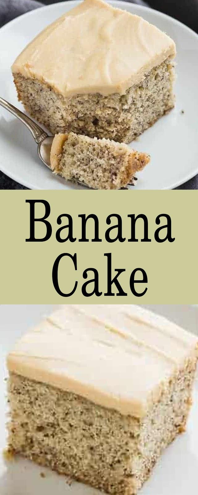 Recipe Banana Cake #cakes #recipes