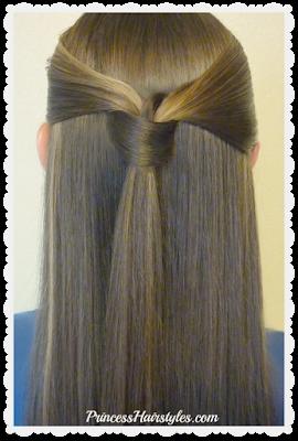 Easy windsor tie half up hairstyle tutorial.
