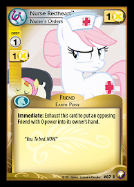 My Little Pony Nurse Redheart, Nurse's Orders Equestrian Odysseys CCG Card