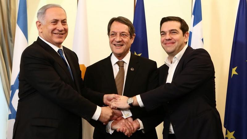 Συνάντηση Τσίπρα - Αναστασιάδη - Νετανιάχου στη Θεσσαλονίκη