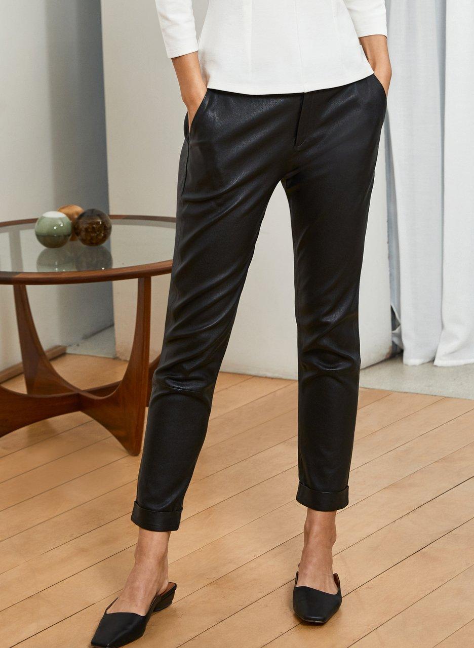baukjen raven leather trouser