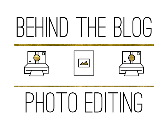 Behind The Blog Photo Editing