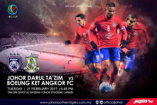 live streaming jdt vs boeung ket angkor