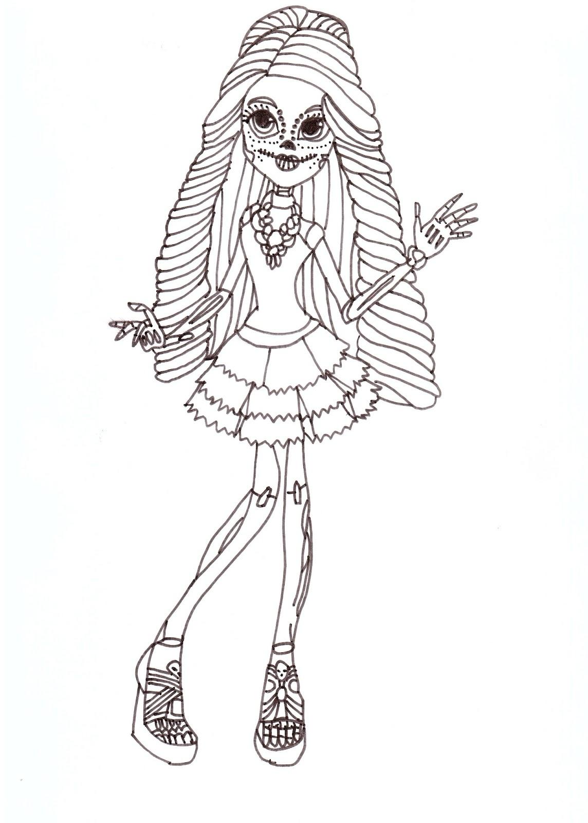 Free Printable Monster High Coloring Pages Skelita Free Coloring Sheet