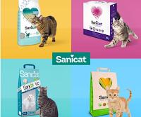 Logo Sanicat: gioca e vinci gratis una delle 4 tipologie di lettiera