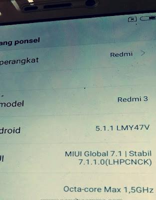 Fix Getar Only Xiaomi Redmi 3 ido