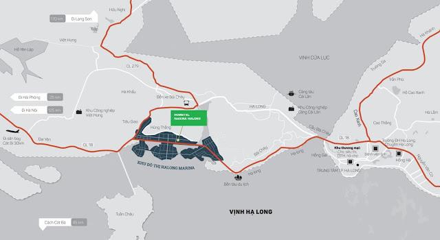 Vị trí khu đô thị Hạ Long Marina