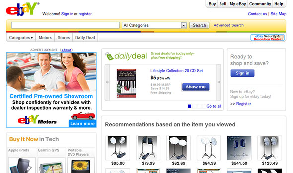 eBay web site