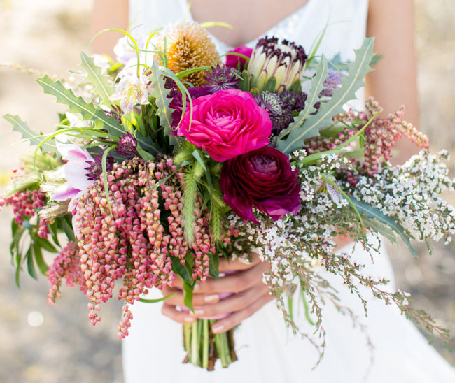 Wild Flower Wedding Bouquet: Koru Wedding Style: {bridal Bouquets} All Things Boho