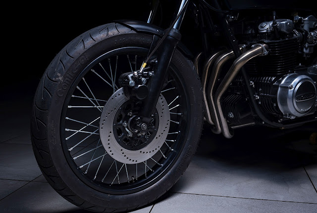 Honda CB550 by Elemental Custom Cycles Hell Kustom