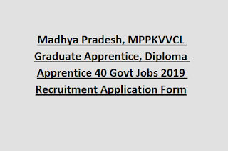 Madhya Pradesh, MPPKVVCL Graduate Apprentice, Diploma Apprentice 40 Govt Jobs 2019 Recruitment Application Form
