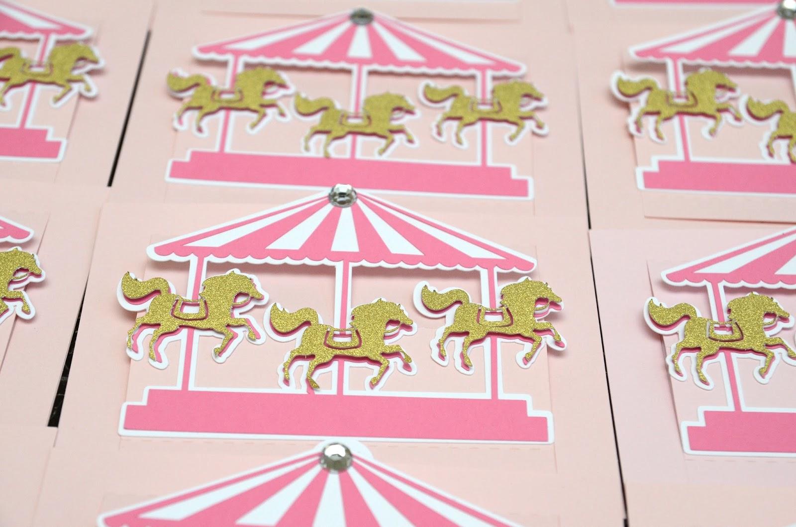 Jingvitations Carousel Birthday Invitations – Carousel Party Invitations