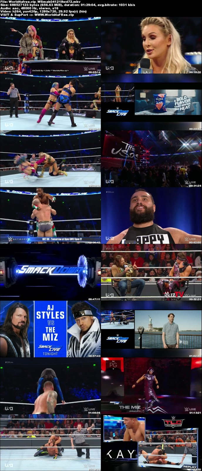 WWE Smackdown Live 04 DECEMBER 2018 720p HDTV 600MB x264  tv show wwe WWE Smackdown Live 04 DECEMBER 2018 HDTV 480p 650MB x264 compressed small size free download or watch online at world4ufree.vip