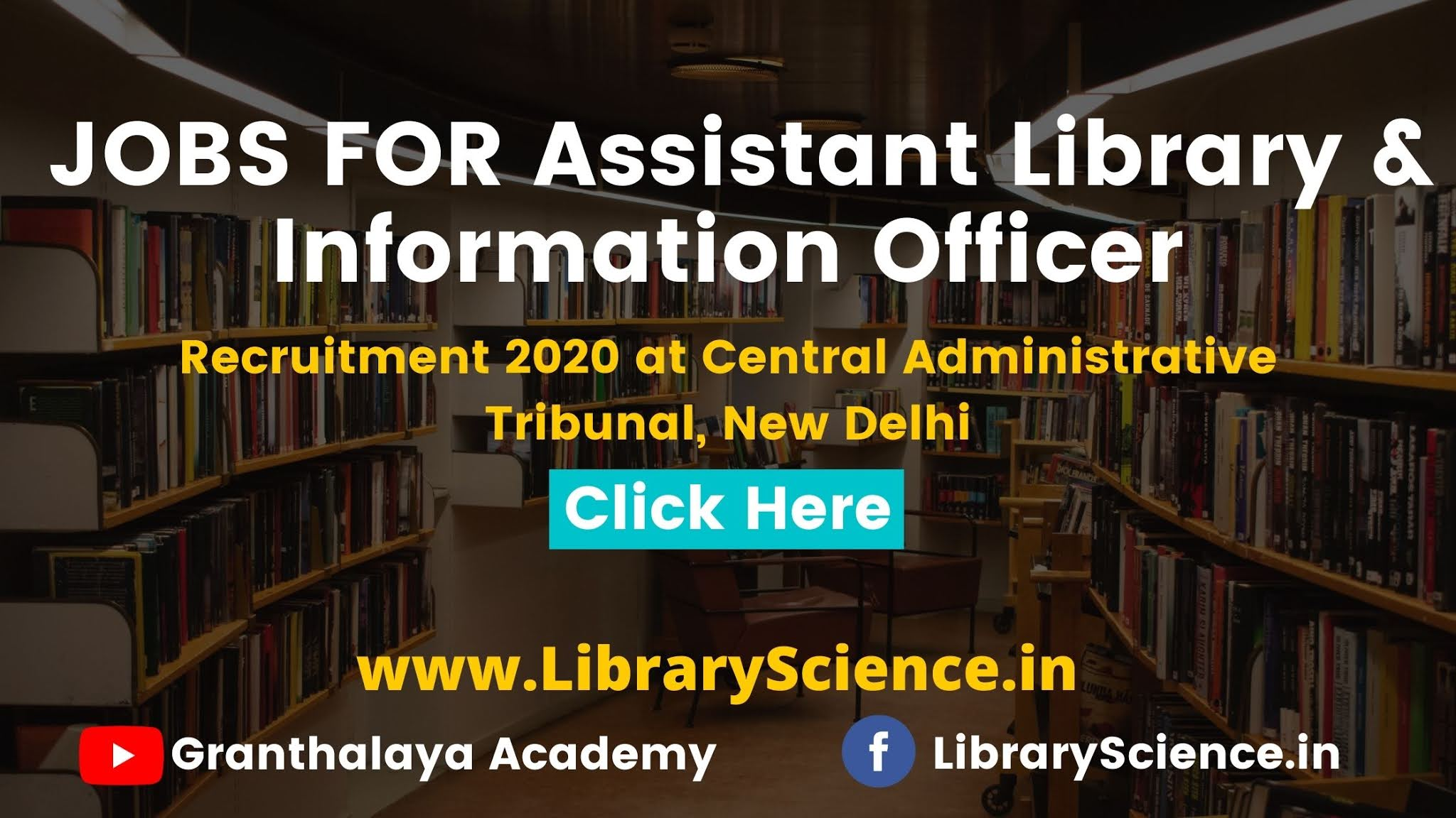Assistant Library & Information Officer Recruitment 2020