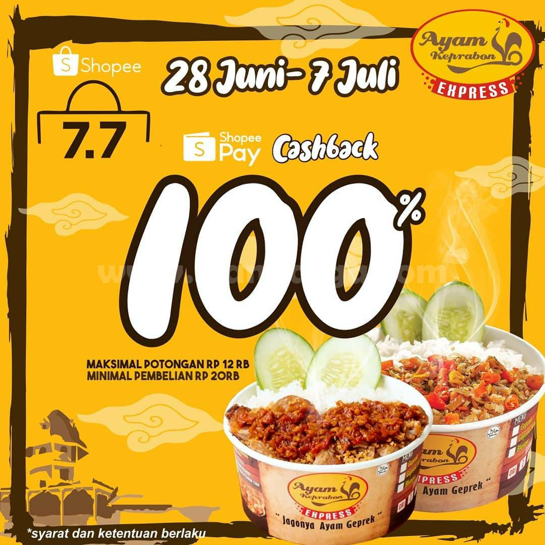 Promo Ayam Keprabon Express ShopeePay Cashback 100%