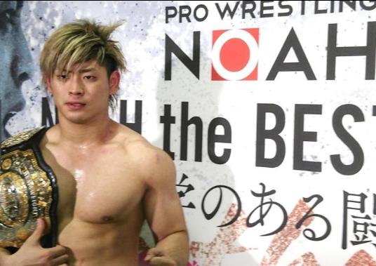 Image result for Kaito Kiyomiya champion backstage